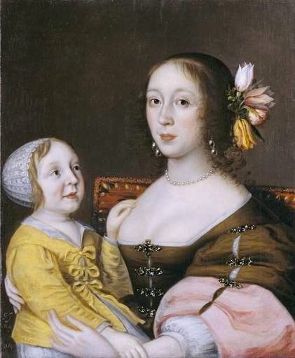 1641-1642 Lady Grenville and son by Gilbert Jackson