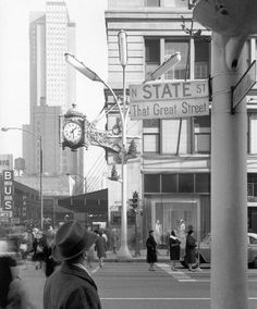 State Street, That Great Street, at Randolph, 1960, Chicago.