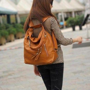 Fashion Multifunction Fringed Handbag & Shoulder Bags for only $23.90 ,cheap Shoulder Bags - Fashion Bags online shopping,Fashion Multifunction Fringed Handbag can achieve your 3 aspirations.It can be used as handbag,shoulder bag,backpacks!