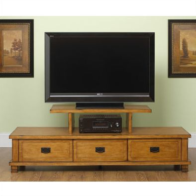oak tv stands for flat screens. Would be great in a slightly darker wood.