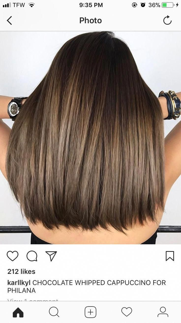 Dark Brown Hair With Highlights And Dark Brown Tips Highlights With Dark Tips Genel Ombrebrownhair Dar Light Hair Color Hair Highlights Cool Hair Color