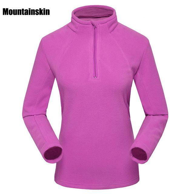 De Las nuevas Mujeres de Invierno Fleece Softshell Chaquetas Marca Abrigos Ropa Térmica Deportes Al Aire Libre que va de Excursión de Esquí Abrigos Femeninos VB031