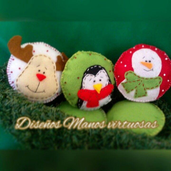 Bambalinas de navidad en fieltro