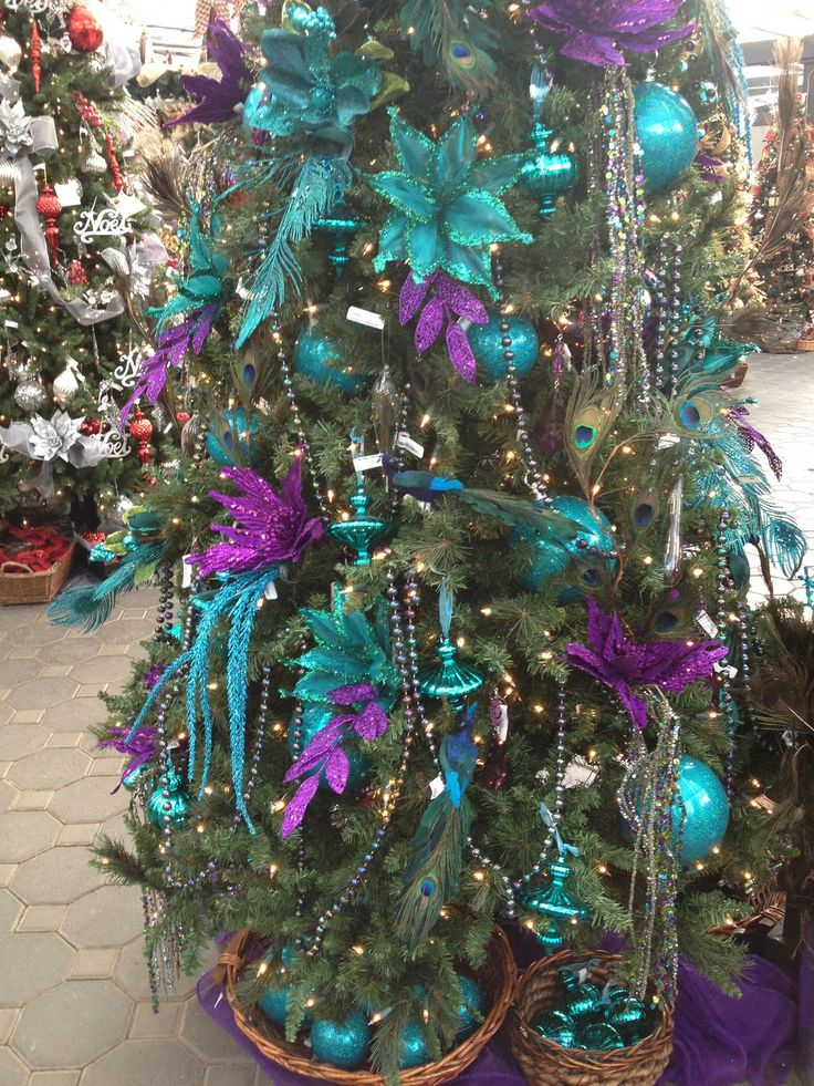 25 best ideas about purple christmas tree on pinterest - Is purple a christmas color ...