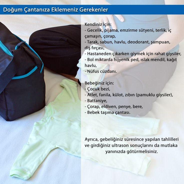Doğum çantası hazırlamak için son ayları beklemeyin. Bebeğinizin gelişine hazırlıklı olun.  #kudretinternational #hastane #saglik #ankara #turkiye #turkey