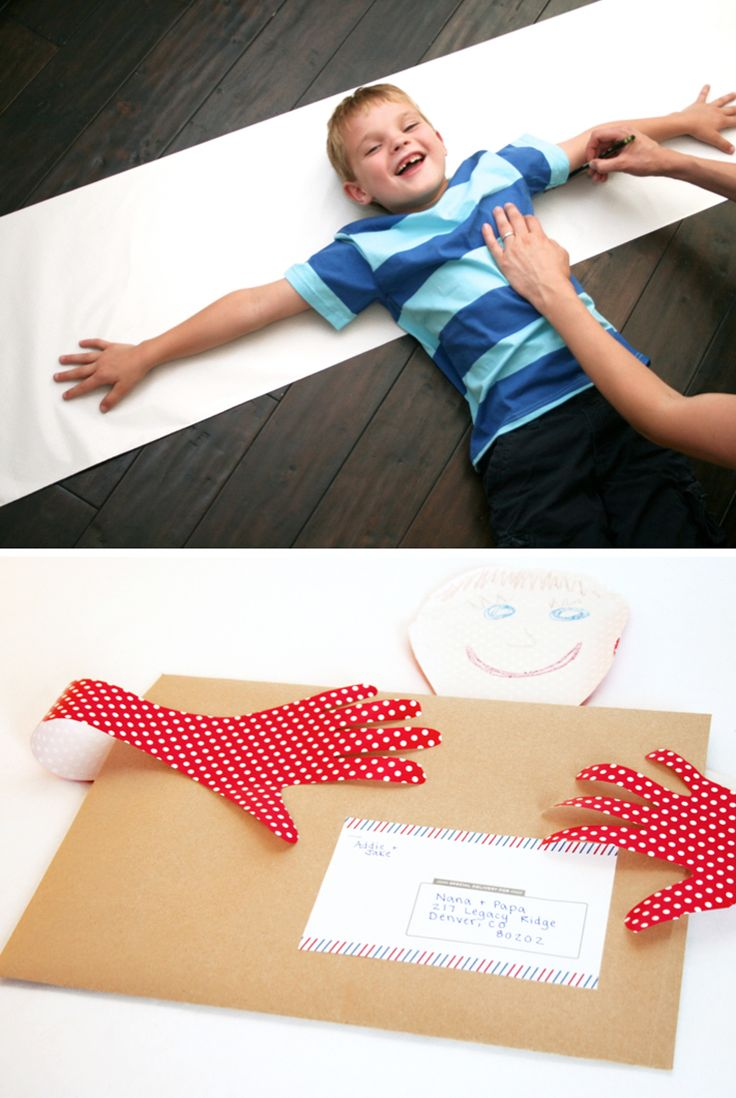 Trace Your Arms and Mail A Hug  ... Great idea for Valentines Day, Mothers Day, Grandparents Day, a Birthday, Fathers Day really, I'd love one anytime!!!
