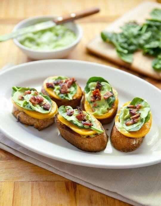 BLT Bites with Avocado Cream | Recipe | Blt Bites, Avocado and Cream ...
