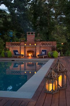 Weems Creek Pool House - traditional - Pool - Baltimore - Bayview Builders LLC