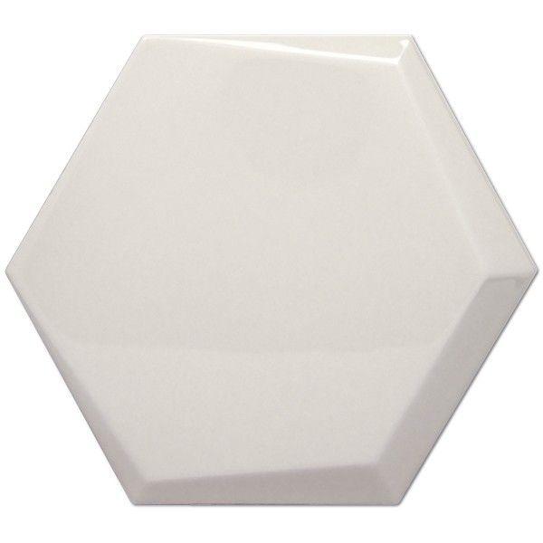 Kolekcja Hexagono Cuna - płytki ścienne Cuna Perla Brillo 17x15