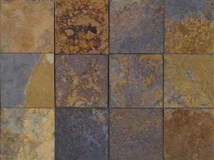 Carrelage et dalle en pierre naturelle 10x10 cm, Piedras multicolore