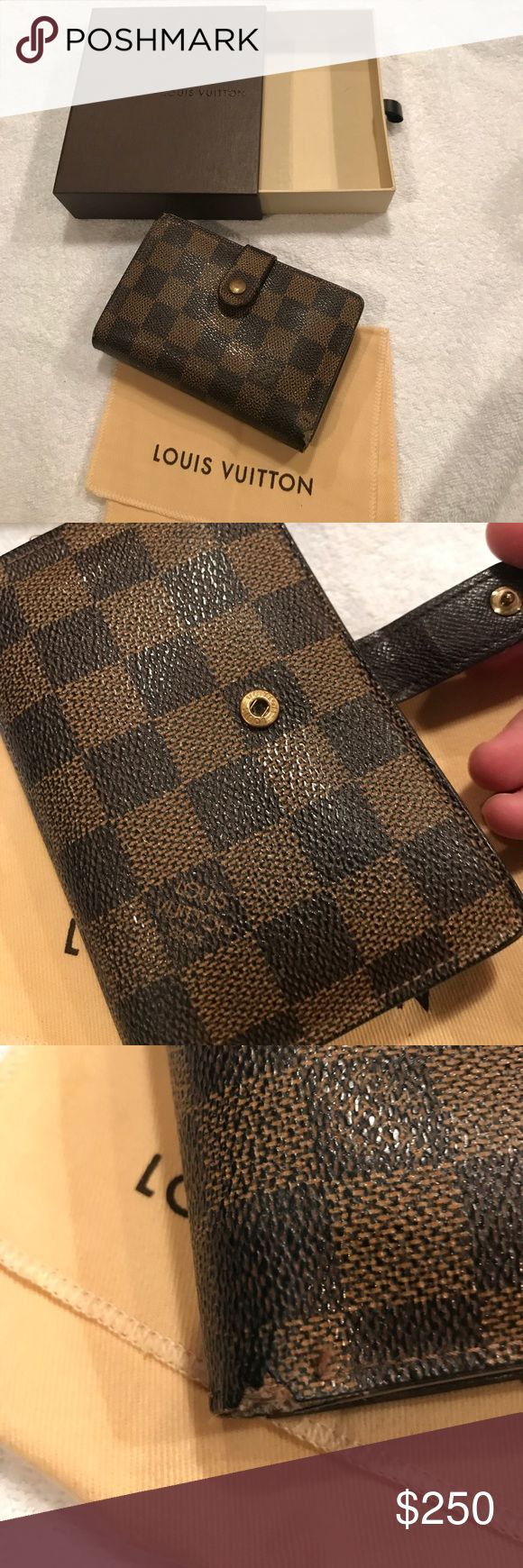 Authentic Louis Vuitton French Purse Wallet Authentic Louis Vuitton French Purse Wallet (current model #M61674) in condition as shown- please note the corners in pictures as wear is consistent with age. Includes box and dust  bag. Price is firm. Louis Vuitton Bags Wallets