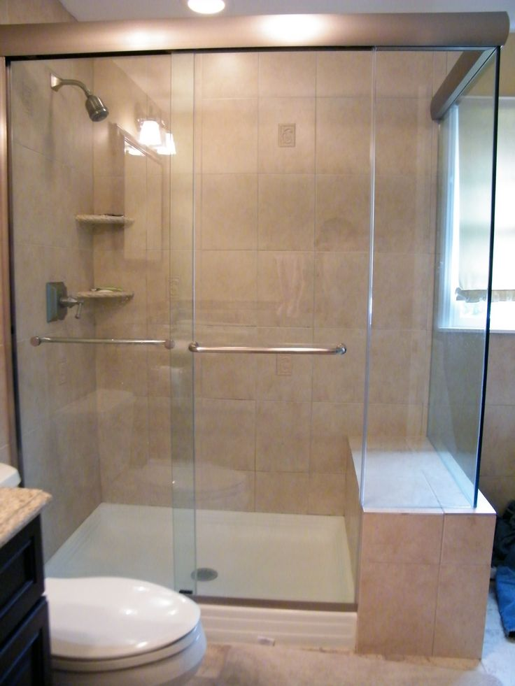 Bathroom shower doors frameless