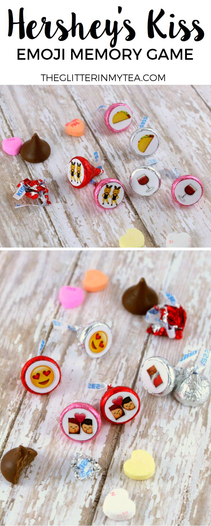 DIY Hershey Kiss Emoji Memory Game Valentine's day party