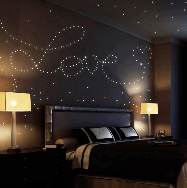 10 Cozy And Dreamy Bedroom With Galaxy Themes Styles Decor Romantic Bedroom Lighting Bedroom Designs For Couples Couple Room