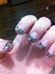 hunting camo nails