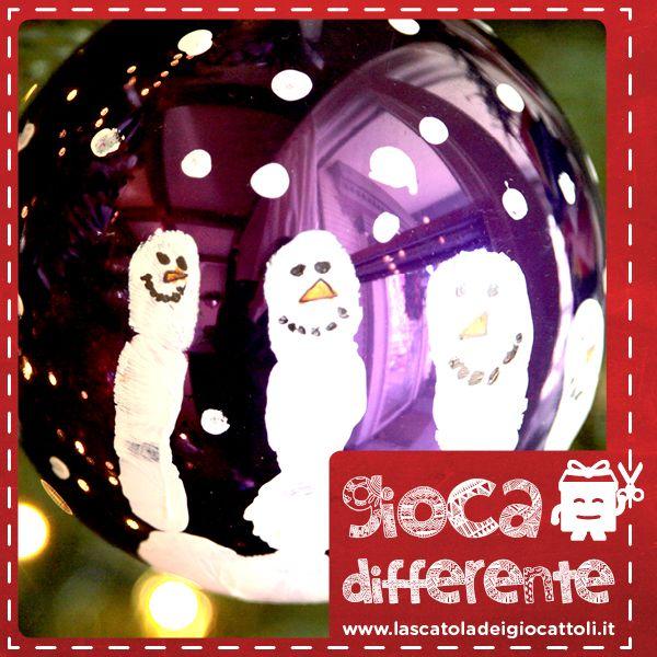 Palle di Natale Decorate, per addobbare l'albero con i vostri bambini e avere un tenero ricordo