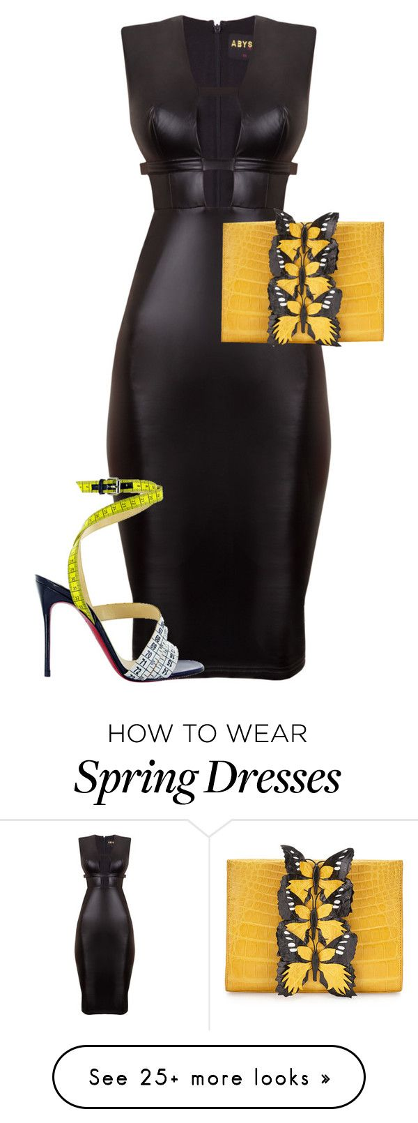 """Untitled #5082"" by stylistbyair on Polyvore featuring Nancy Gonzalez and Christian Louboutin"