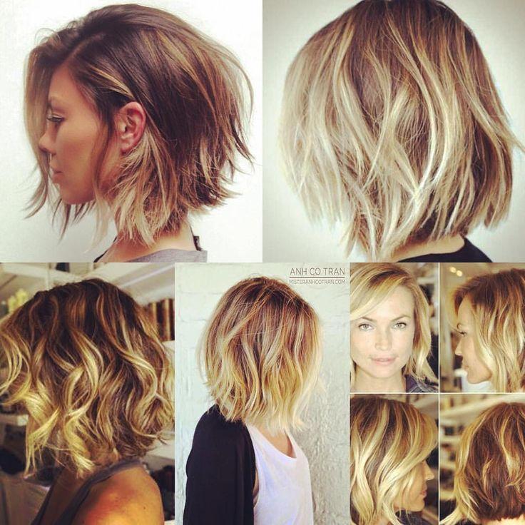 #hairinspiration #lob #choppybob #balayage #blonde