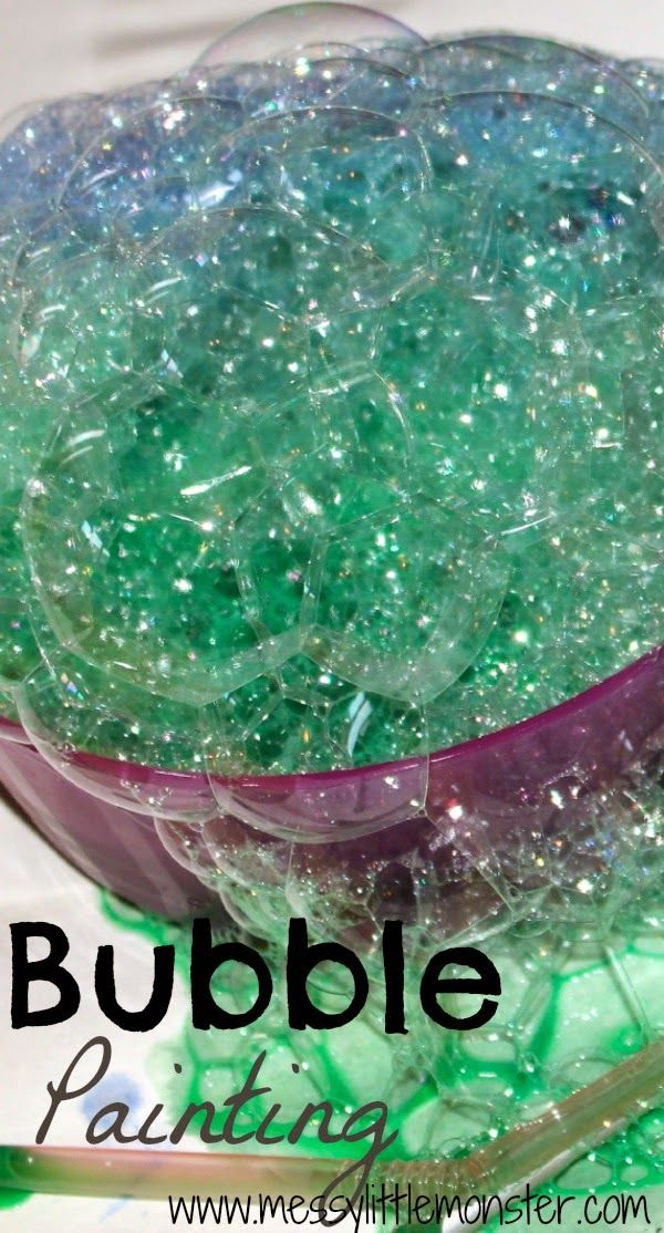 Bubble Painting Kids Activity - What preschooler wouldn't want to try this!!!