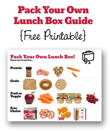 pack your own lunch guide