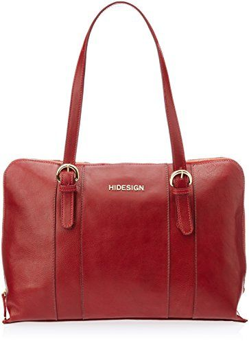Hidesign Aura 01 Red Leather Shoulder Bag Handbag - http://weddingcollections.co.in/product/hidesign-aura-01-red-leather-shoulder-bag-handbag/