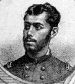 """Carlos López Echánez (1861-1880) . Ingresa al Batallón Navales como Subteniente, pero, voluntariamente opta por convertirse en portaestandarte. Muere en la Batalla de Miraflores. Fuente: """"El Álbum de la Gloria de Chile"""" de B. V. Mackenna."""