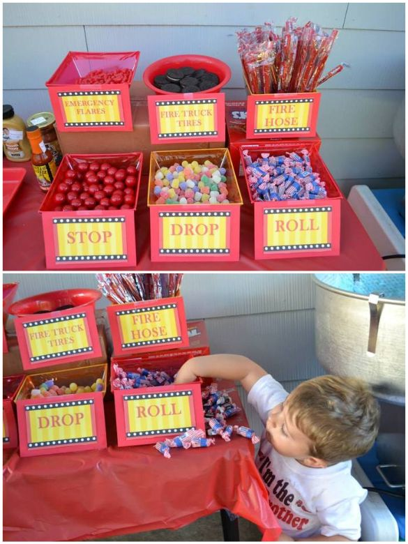 Rescue Vehicle Birthday Party Candy Station