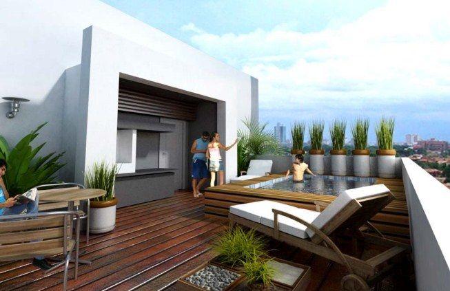 jardines y terrazas minimalistas | inspiración de diseño de interiores
