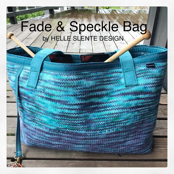 the Fade & Speckle Bag by HELLE SLENTE DESIGN | this beauty is made by Monica Vaule of Norway