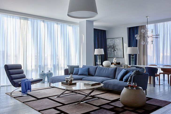 Яркий минимализм в Москве: квартира бизнесмена в современном стиле | Пуфик - блог о дизайне интерьера