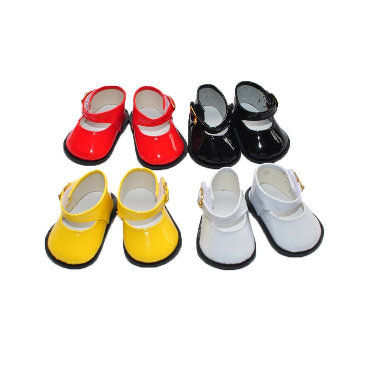 "free shipping  factory price Environmental protection 18""  INCH DOLL SHOES for AMERICAN GIRL black white yellow red ballet shoe"