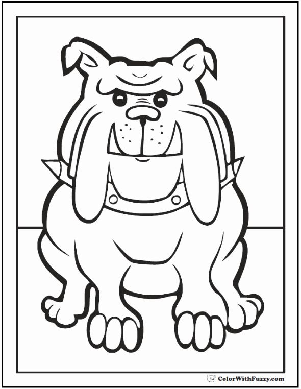 Bull Dog Coloring Page Awesome 35 Dog Coloring Pages Breeds Bones And Dog Houses Dog Coloring Page Puppy Coloring Pages Bulldog