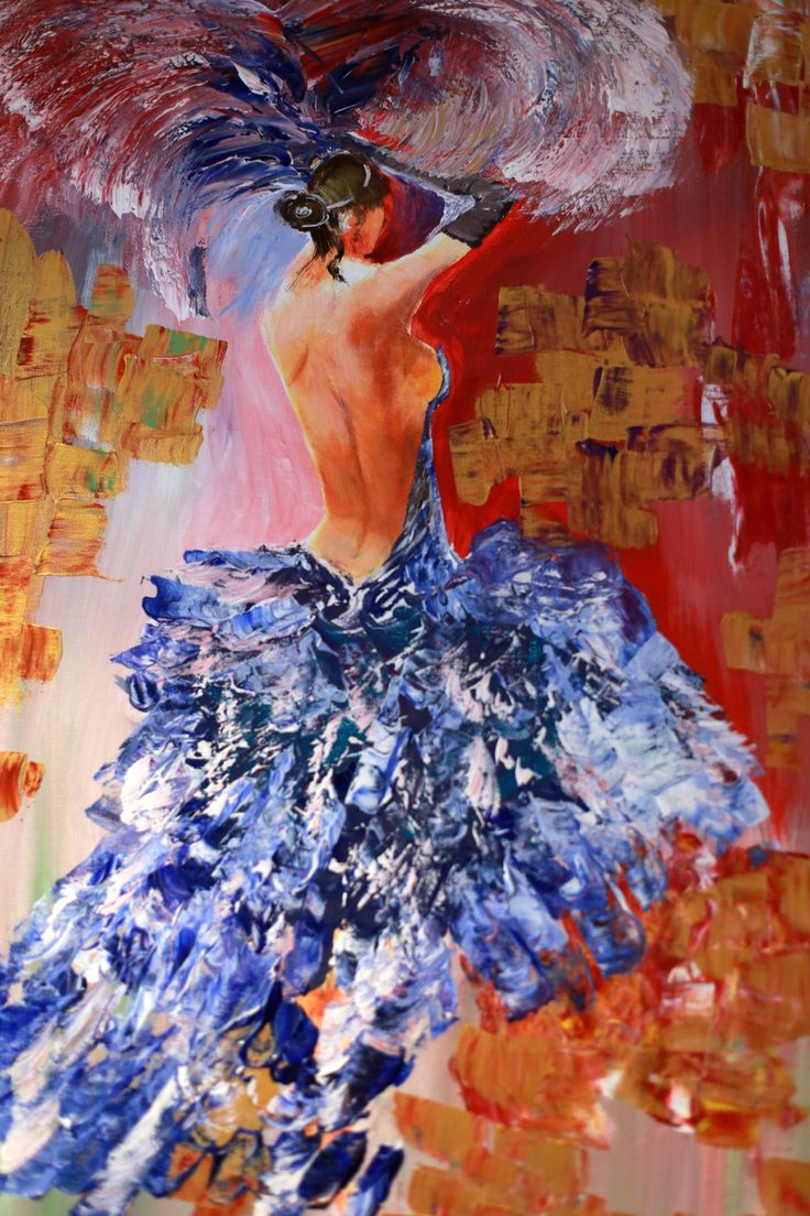 Dancer Acrylic Painting on Canvas / Large Canvas Painting / Abstract Painting / Wall Art by AllexaArt on Etsy https://www.etsy.com/listing/252028344/dancer-acrylic-painting-on-canvas-large