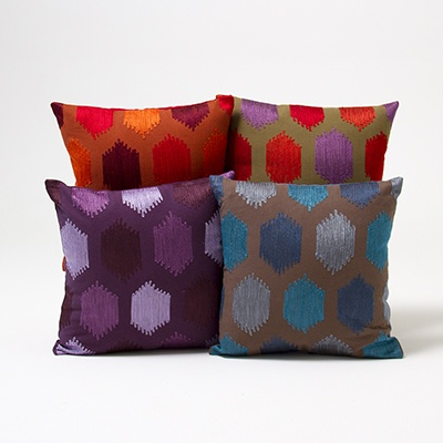 Embroidered Patch Cushion Cover     List $18.99   Various Colours  16inches widex 16inches long