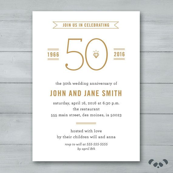 24 best 50 aniversario images on pinterest 50th wedding anniversary party invitation wedding anniversary party invitation anniversary invite stopboris Gallery