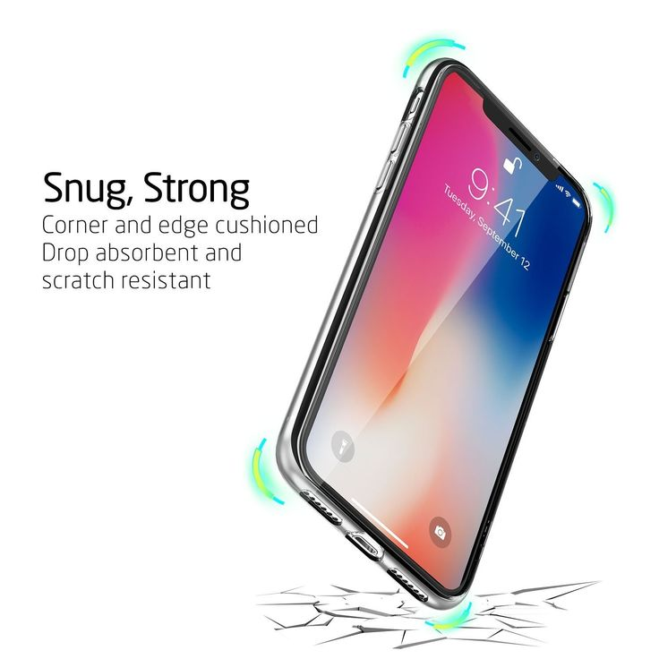 Tempered Glass + Silicone Case for iPhone X Full Protection Screen Glas Back Cover    Back Cover, Cell Phone, Protection, Scratch, Cover, Case, Screen Protection, silicone, Perfect, 360 Cover, Case and Glass, Front Screen Glass, Back Cover Protection, Cover and Screen Glass, All Round Cover