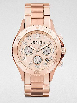 Montre pour femme : Marc by Marc Jacobs Rose Stainless Steel Chronograph Watch -…