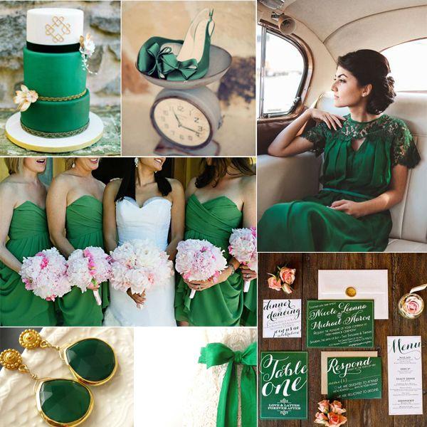 Smaragd Grün Hochzeitsinspiration-Hochzeit 2014 Trend 1.