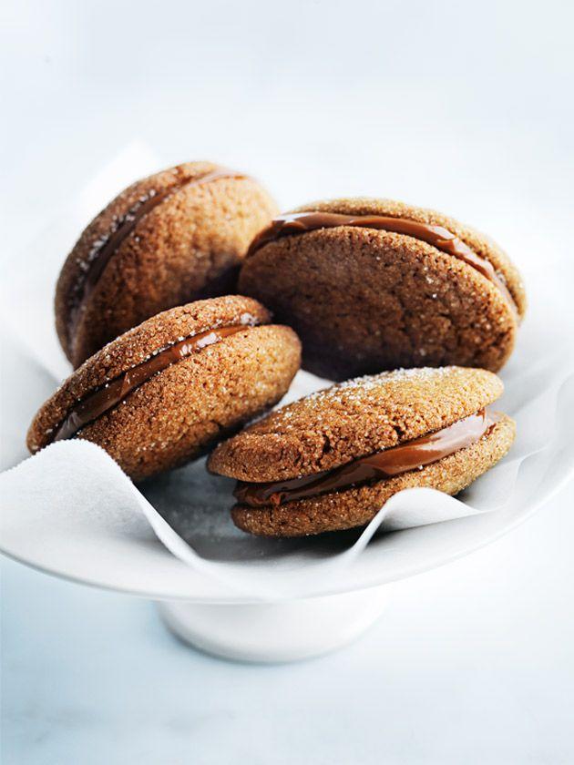 Gingernut Caramel Sandwiches | Donna Hay