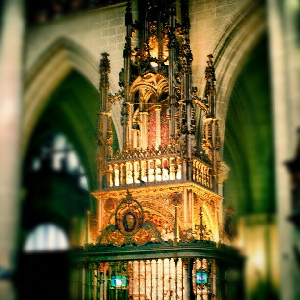 In the Cathedral of Toledo, #Spain.   re-working of previous photo
