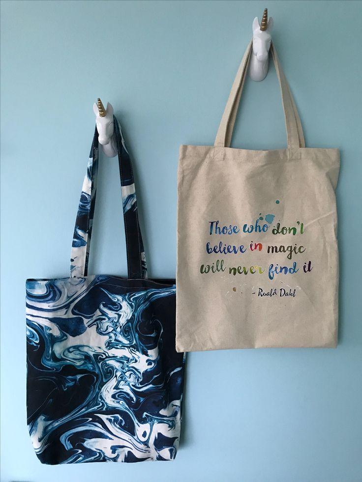 Unicorn kapstokhaakjes van #goedinstijl. De tas van Roald Dahl heeft Mila gekregen bij een boek presentatie. De tekst past perfect bij het dromerige van de Unicorn 🦄.