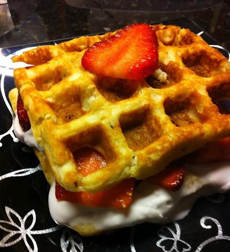 Breakfast or Dessert Waffles | wheat free dessert | Pinterest