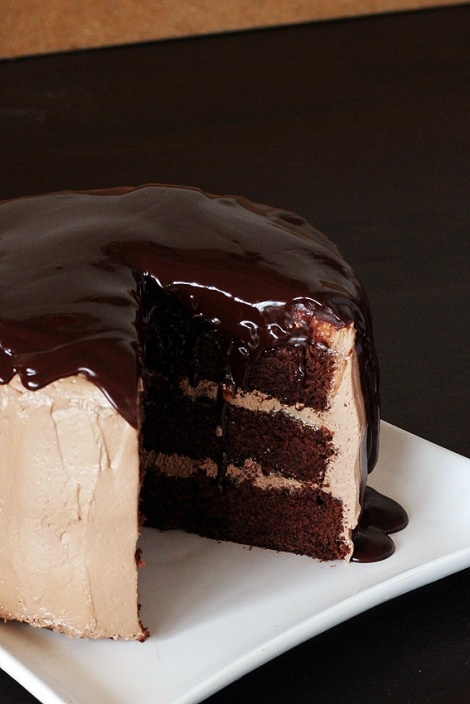Chocolate Chocolate ChocolateCake: Cakes Desserts, Chocolates Ganache, Chocolates Chocolates, Sweet, Chocolate Ganache, Food, Dark Chocolate, Chocolates Cakes Recipe, Birthday Cakes