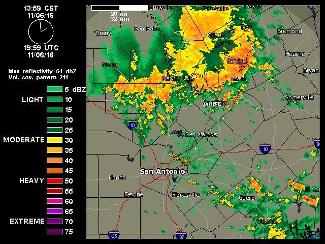 11/06/2016  2pm  Austin-San Antonio Radar   Weather Underground