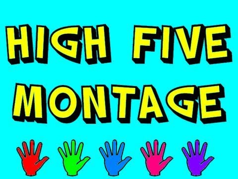 """Today is National High Five Day!  Get inspired with this """"awesome montage of every high five ever!"""""""