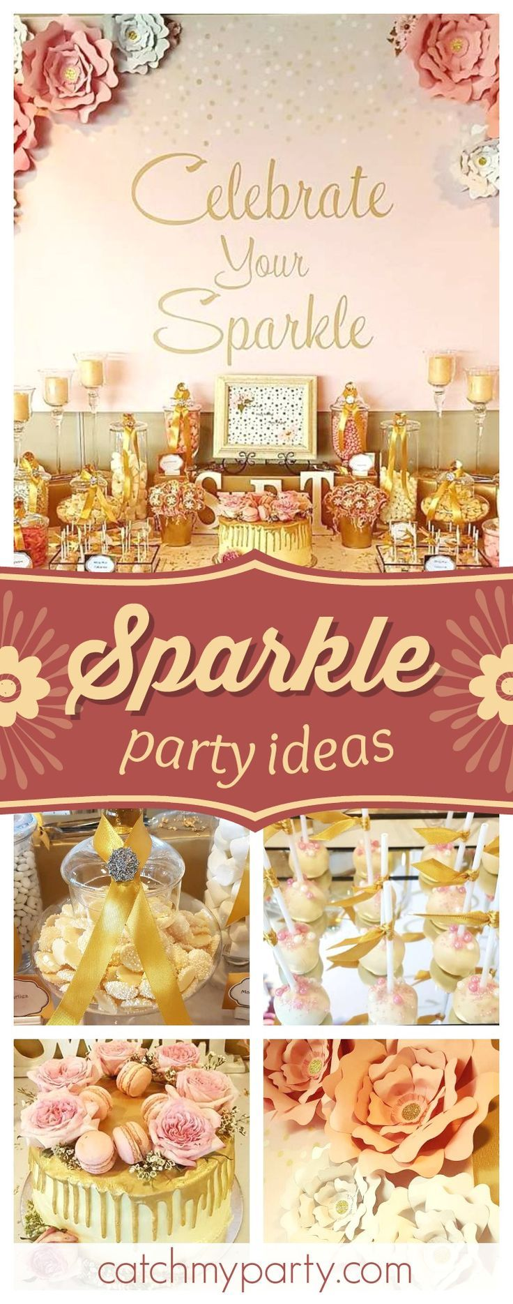 Take a look at this wonderful Sparkle birthday party! The birthday cake is amazing!! See more party ideas and share yours at CatchMyParty.com #girlbirthdayparty #sparkle