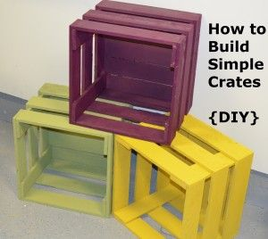 How To Build Simple Crates Tutorial....