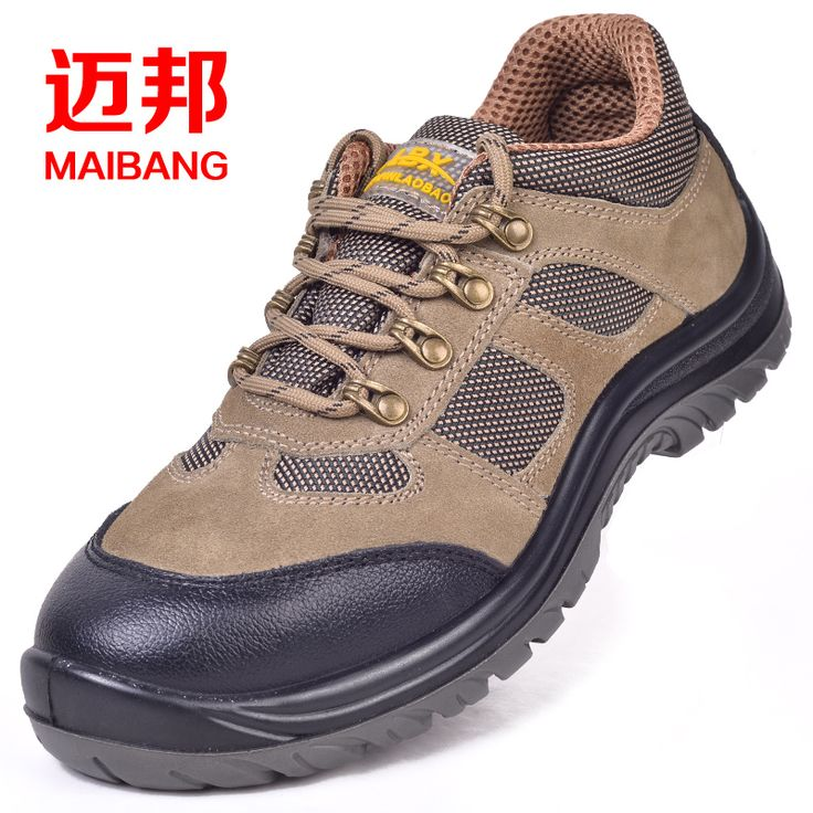big size men genuine leather steel toe cap work safety shoes breathable air mesh outdoor hiking tooling boots summer footwear