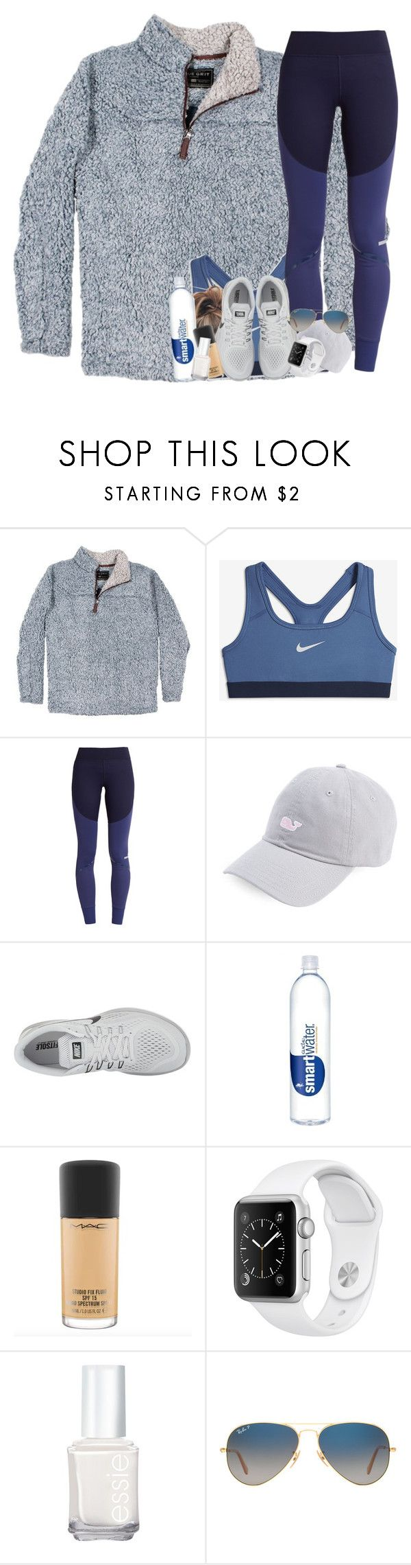 """""""bout to start weight training on tuesday"""" by sophie-dye ❤ liked on Polyvore featuring True Grit, NIKE, adidas, Essie and Ray-Ban"""