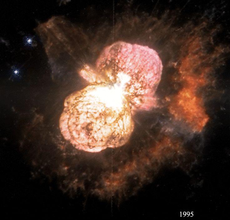 APOLO11.COM - Hubble: Eta Carinae e a expansão da Nebulosa do Homúnculo